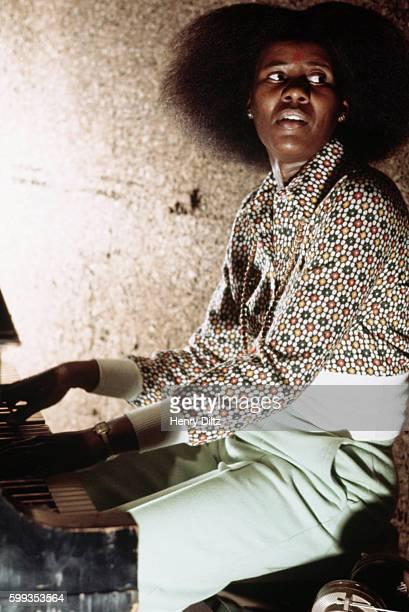 Alice Coltrane Playing Piano