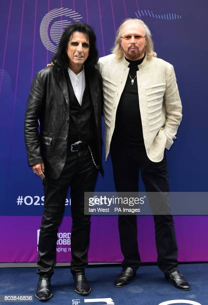 Alice Cooper and Barry Gibb attending the O2 Silver Clef Awards 2017 with the support of Nordoff Robbins held at the Grosvenor House Hotel London