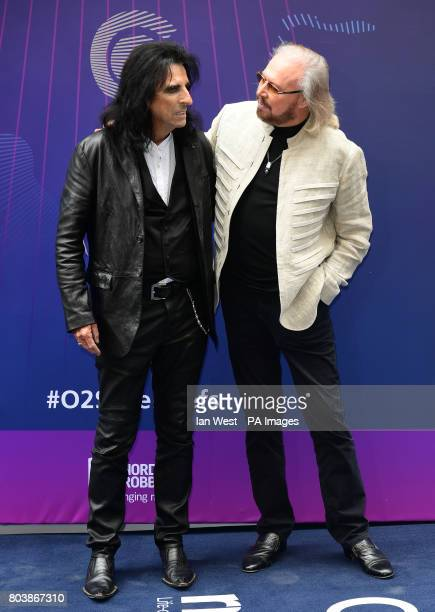 Alice Cooper and Barry Gibb attending the O2 Silver Clef Awards 2017 with the support of Nordoff Robbins held at the Grosvenor House Hotel London...