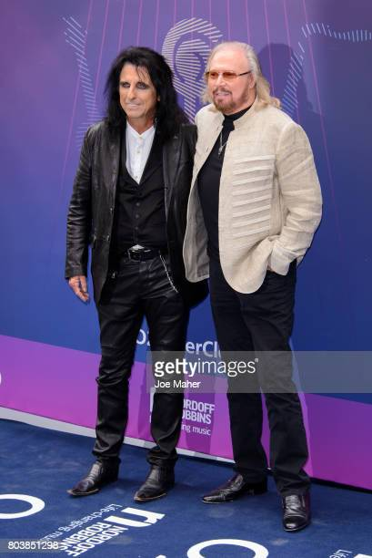 Alice Cooper and Barry Gigg attends Nordoff Robbins O2 Silver Clef awards at The Grosvenor House Hotel on June 30 2017 in London England