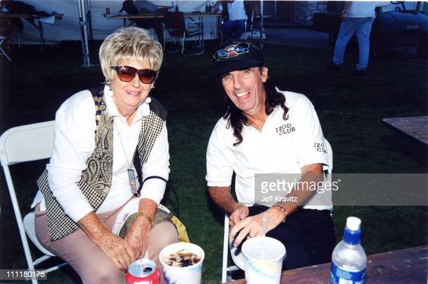 Alice Cooper and his mother during 1998 Fairway to Heaven Golf Tournament in Las Vegas Nevada United States