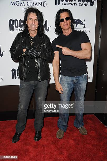 Alice Cooper and Kane Roberts appear at February's Rock 'n' Roll Fantasy Camp MGM Grand Studio on February 16 2013 in Las Vegas Nevada