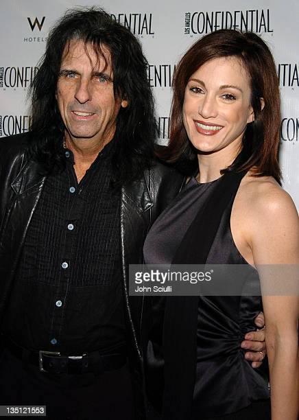Alice Cooper and Sheryl Cooper during LA Confidential Magazine's PreOscar Party at W Hotel Los Angeles Westwood in Los Angeles California United...