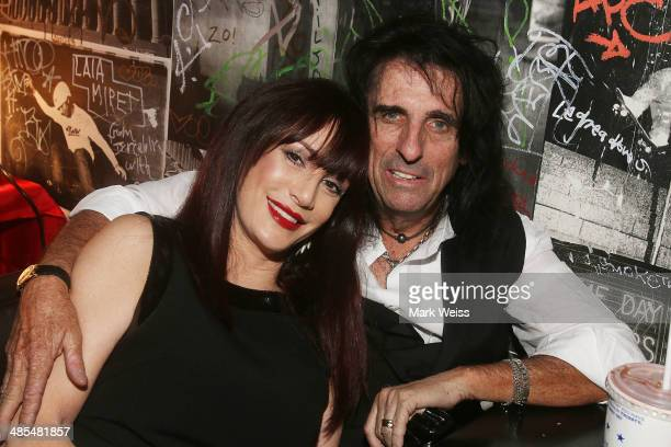 Alice Cooper and wife Sheryl Cooper attend the after party for the Super Duper Alice Cooper premiere at the Lit Lounge during the 2014 Tribeca Film...