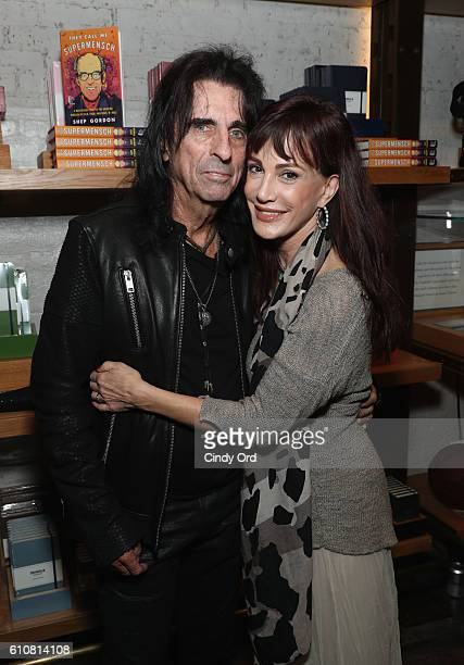 Alice Cooper and wife Sheryl Goddard attend as Alice Cooper Shep Gordon and Shinola celebrate the release of Gordons Memoir 'They Call Me...