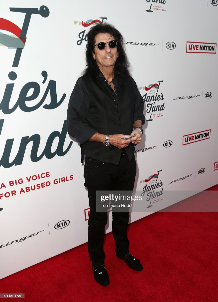 Alice Cooper at Steven Tyler and Live Nation presents Inaugural Janie's Fund Gala & GRAMMY Viewing Party at Red Studios on January 28, 2018 in Los Angeles, California.