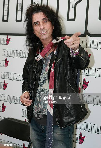 Alice Cooper attends the press conference on day two of the Download Festival at Donington Park on June 11 2011 in Castle Donington England