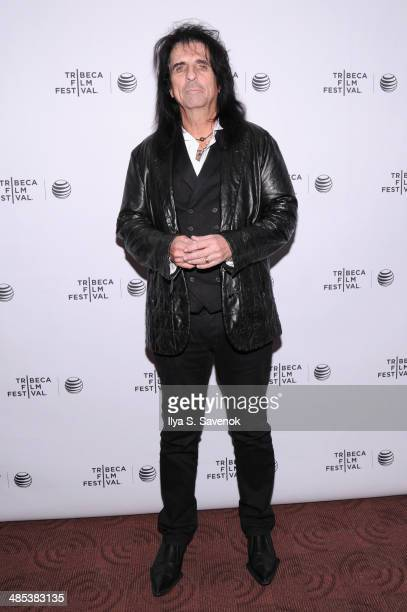 """Alice Cooper attends the """"Super Duper Alice Cooper"""" Premiere during the 2014 Tribeca Film Festival at Chelsea Bow Tie Cinemas on April 17, 2014 in..."""
