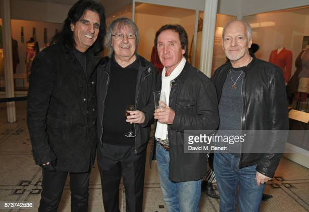 Alice Cooper Bill Wyman Kenney Jones and Peter Frampton attend the unveiling of 'The Adoration Trilogy Searching For Apollo' by Alistair Morrison...