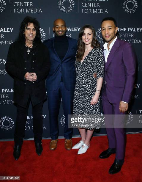 Alice Cooper, Brandon Victor Dixon, Sara Bareilles and John Legend attend The Paley Center for Media presents: Behind The Scenes: Jesus Christ...