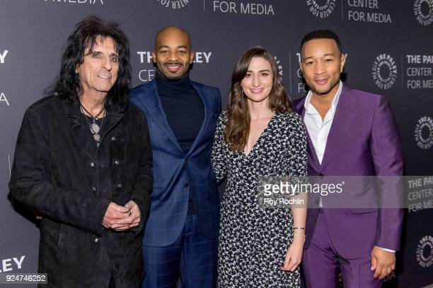 Alice Cooper Brandon Victor Dixon Sara Bareilles and John Legend attend The Paley Center for Media presents Behind The Scenes Jesus Christ Superstar...