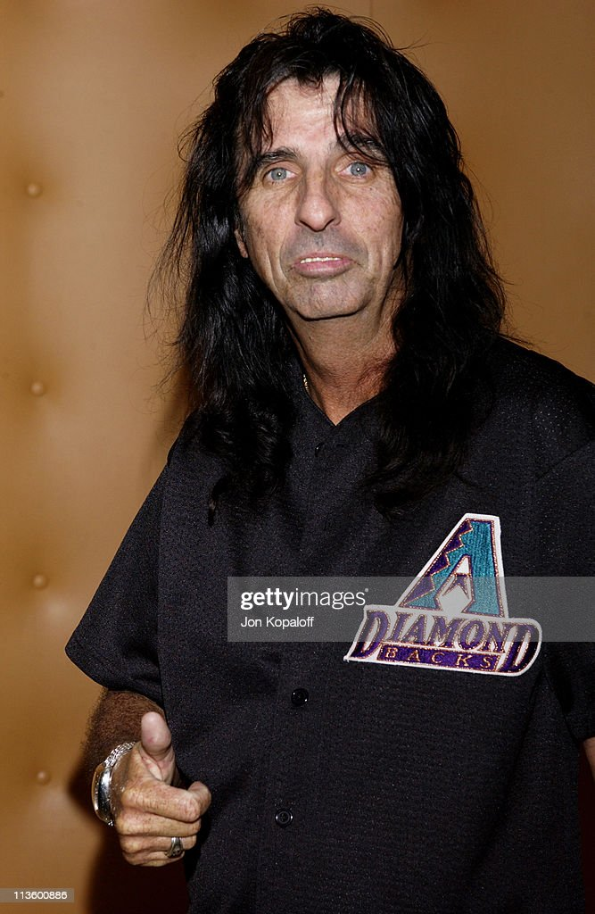 Alice Cooper during 2002 ESPY Awards - Kick-Off Party Featuring The ESPY Collection at Sky Bar At The Mondrian Hotel in West Hollywood, California, United States.