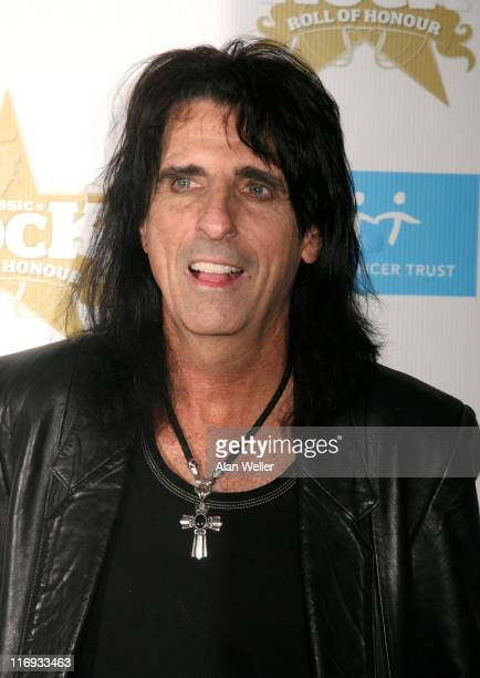 Alice Cooper during 2006 Classic Roll and Roll Honour - Arrivals at Langham Hotel in London, Great Britain.