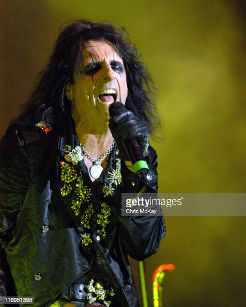 Alice Cooper during Alice Cooper in Concert at Chastain Park Amphitheatre August 26 2005 at Chastain Park Amphitheatre in Atlanta Georgia United...