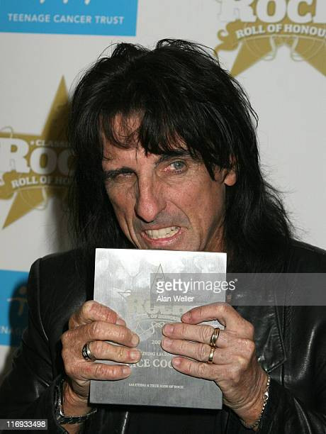 Alice Cooper during Classic Rock and Roll Honours Press Room at Langham Hotel in London Great Britain