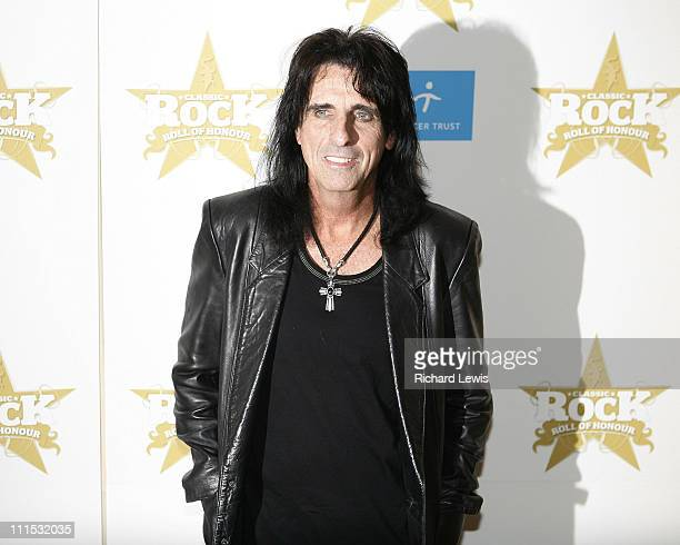 Alice Cooper during Classic Rock Roll of Honor Inside Arrivals at Langham Hotel in London Great Britain