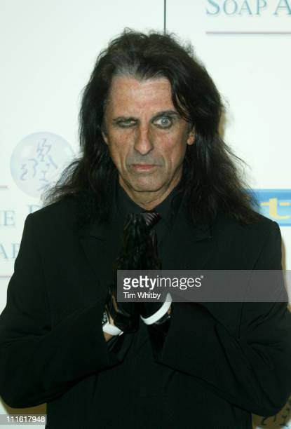 Alice Cooper during The 2005 British Soap Awards Press Room at BBC Television Centre in London Great Britain