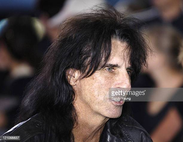 Alice Cooper during The Northern Rock All Star Charity Gala Red Carpet at Celtic Manor Resort in Newport Great Britain