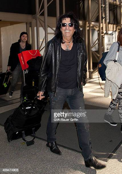 Alice Cooper is seen at Los Angeles International Airport on March 11 2013 in Los Angeles California