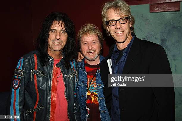 Alice Cooper Jon Anderson and Stewart Copeland during 'Rock School' Los Angeles Premiere After Party at Knitting Factory in Hollywood California...
