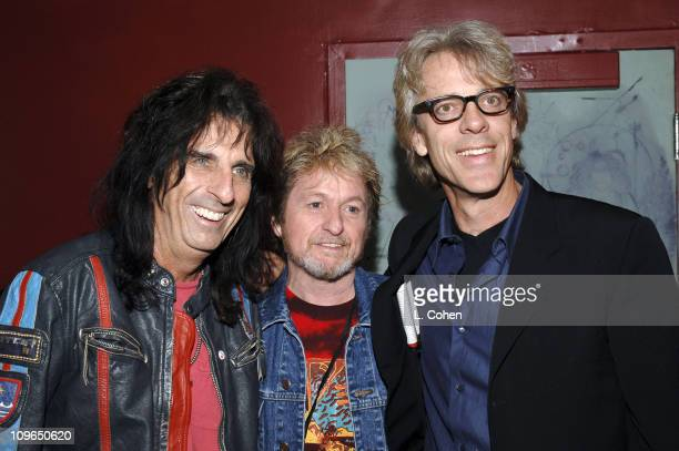 Alice Cooper Jon Anderson of Yes and Stewart Copeland of the Police