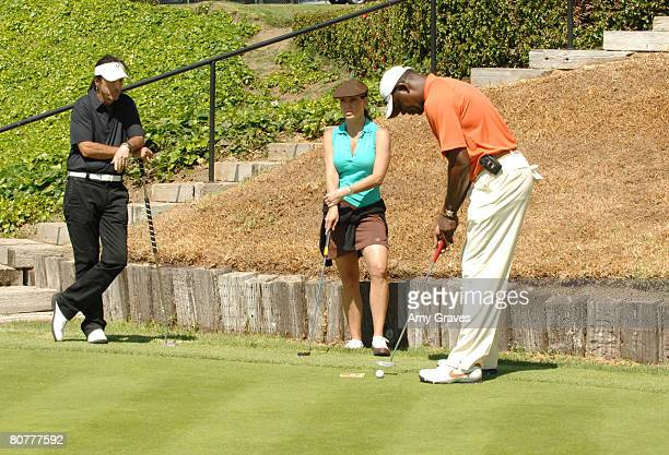 Alice Cooper Paula Trickey and Dennis Haysbert participate in the Autism Speaks 5th Annual LA Golf Classic at the Riviera Country Club on April 14...