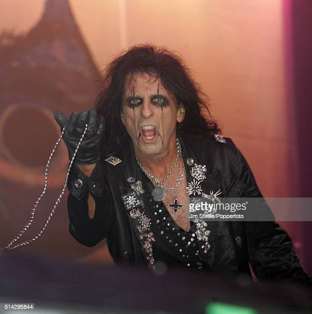 Alice Cooper performing at the Wembley Arena Pavilion in London during his Dirty Diamonds Tour 6th November 2005