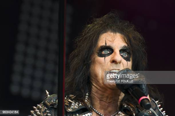 Alice Cooper performing live at the 'Confluences' festival on June 10 2011 in Montereau Fault France
