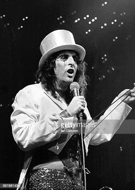 Alice Cooper performing on stage at Green's Playhouse Glasgow Scotland 10 November 1972