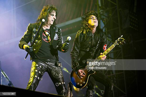 Alice Cooper performing on stage at Hellfest Festival on June 19 2010 in Clisson France