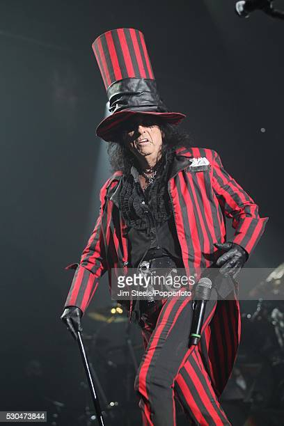 Alice Cooper performing on stage at Wembley Arena in London on the 28th October, 2012.