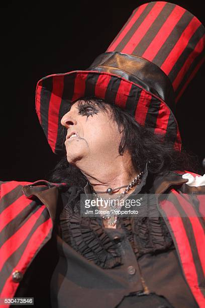 Alice Cooper performing on stage at Wembley Arena in London on the 28th October 2012
