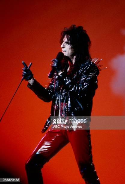 Alice Cooper performing on the 17th Annual American Music Awards Shrine Auditorium January 22 1990