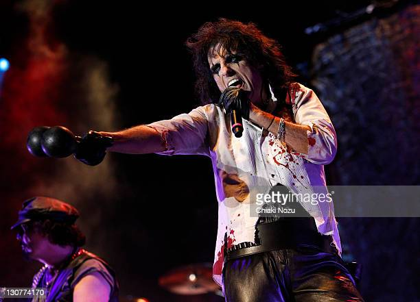 Alice Cooper performs at Alexandra Palace on October 29 2011 in London England
