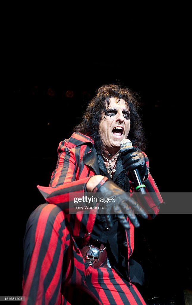 alice cooper performs at alice coopers halloween night of fear at motorpoint arena on october 24