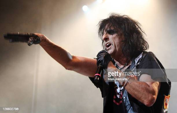 Alice Cooper performs at Enmore Theatre on September 26 2011 in Sydney Australia