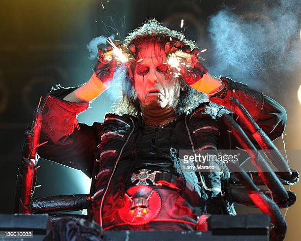 Alice Cooper performs at Hard Rock Live in the Seminole Hard Rock Hotel Casino on December 15 2011 in Hollywood Florida