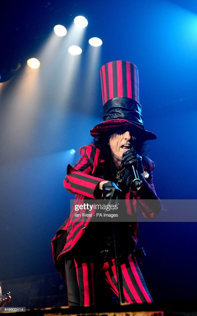 alice cooper performs at his halloween night of fear lll concert at wembley arena in london