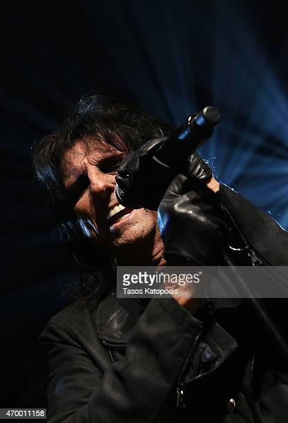 Alice Cooper performs at John Varvatos Detroit Store Opening Party hosted by Chrysler on April 16 2015 in Detroit Michigan