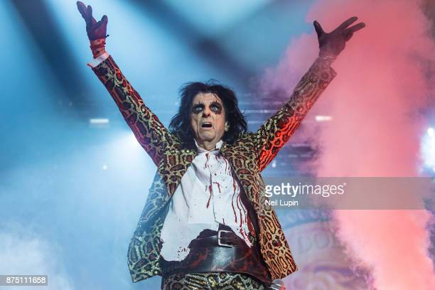 Alice Cooper performs at Wembley Arena on November 16 2017 in London England