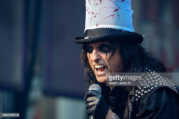 Alice Cooper performs during 'FOX Friends' All American Concert Series outside of FOX Studios on August 14 2015 in New York City