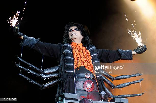 Alice Cooper performs during his 'No More Mr Nice Guy' tour at the SECC on October 31 2011 in Glasgow Scotland