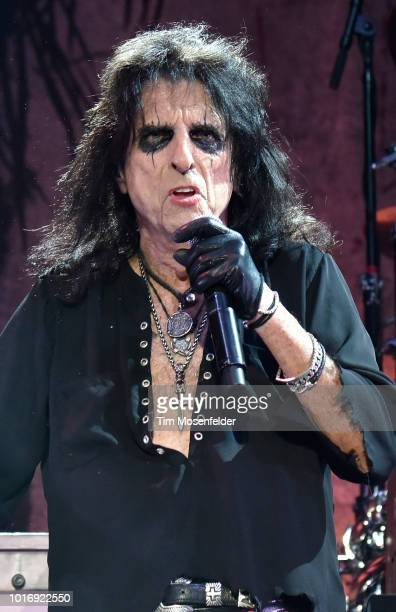 Alice Cooper performs during his Paranormal tour at City National Civic on August 14 2018 in San Jose California