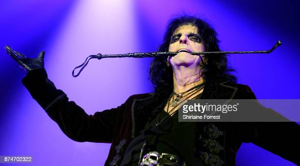 Alice Cooper performs live on stage at Manchester Arena on November 15 2017 in Manchester England