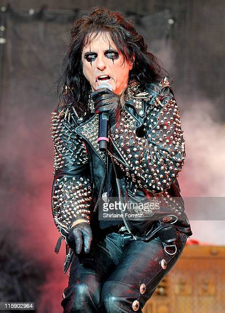 Alice Cooper performs on day two of the Download Festival at Donington Park on June 11 2011 in Castle Donington England
