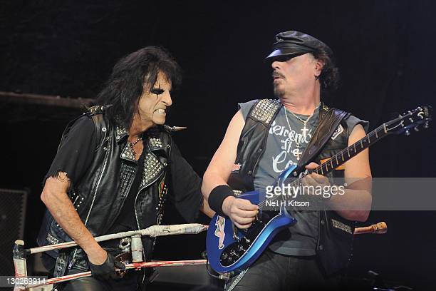 Alice Cooper performs on stage at City Hall on October 25 2011 in Sheffield United Kingdom