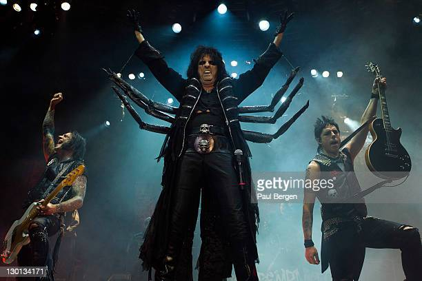 Alice Cooper performs on stage at Silverdome on October 22 2011 in Zoetermeer Netherlands