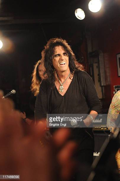 Alice Cooper performs on stage at The 100 Club on June 26 2011 in London United Kingdom