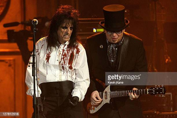 Alice Cooper performs onstage at the 26th annual Rock and Roll Hall of Fame Induction Ceremony at The Waldorf=Astoria on March 14 2011 in New York...