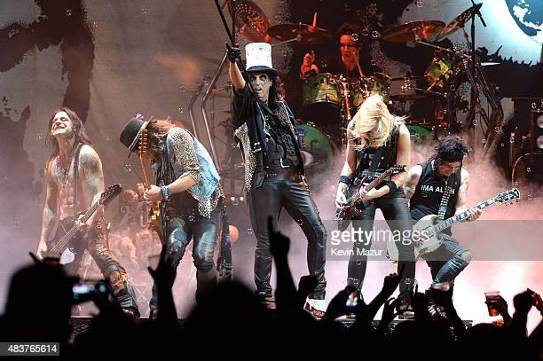 Alice Cooper performs onstage during Motley Crue The Final Tour 'All Good Things Must Come To An End' at Barclays Center of Brooklyn on August 12...